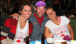 Jodie Nelson, Jim Terrell, Jen Lee after a long day of paddling.  Jimmy did the crossing with a two man relay team.